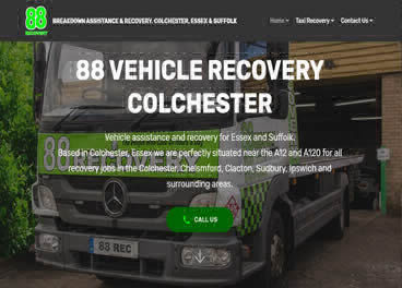 A website we built for a vehicle recovery business
